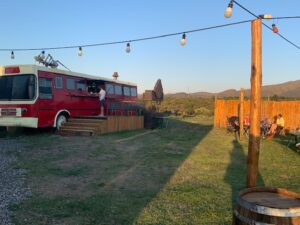 wineyard, food and sunsets